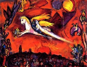 Song of Songs IV by Marc Chagall