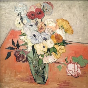"""The painting """"Roses and Anemones"""" by Vincent van Gogh"""