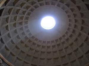 Dome of Pantheon, with light streaming in.