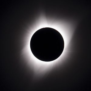 NASA photograph of the total solar eclipse taken at Oregon State Fairgrounds by Dominic Hart