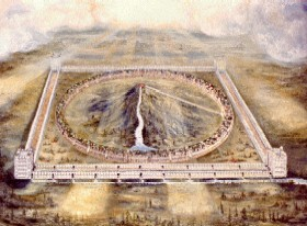 Rendering of Ezekiel's temple by Henery Sulley (1845-1940)